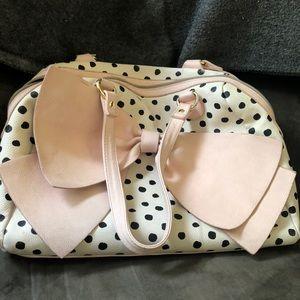 Betsy Johnson polka dot purse